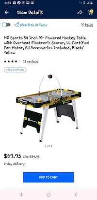 MD 54 inch power hockey table