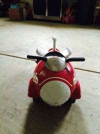 Red white ride on toy