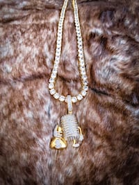 Iced Out Money Mic Pendant + Chain Long Beach, 90813