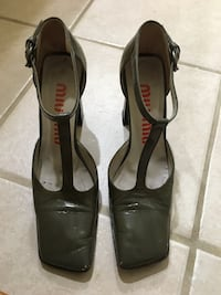 MIU MIU DARK GREEN ANKLE  STRAP SHOES SIZE 7 Los Angeles, 90046