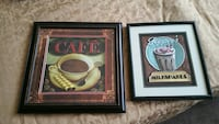 two Cafe and Milkshakes wall art