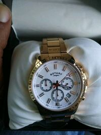 Mens gold rotary brand watch