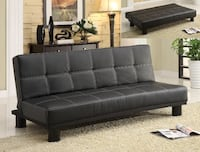 Black leather quilted futon bed Centreville, 20121