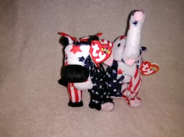 Beanie Babies Righty and Lefty 2000