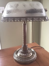 Silver Brass Bankers Lamp 560 km