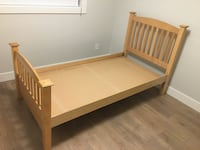 Solid maple bed frame . Have 2 for sale $175 each Burnaby, V5C