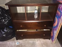 brown wooden 3-drawer chest Montgomery Village, 20886