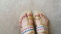 pair of white-and-pink slide sandals Surrey, V3X 1P3