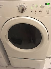 White front-load clothes washer with dry Whitby, L1P 0A4