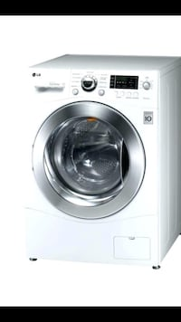 white LG front-load clothes washer 214 mi