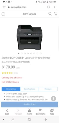 Brother all-in-one laser printer like new Mississauga, L5J 4L3