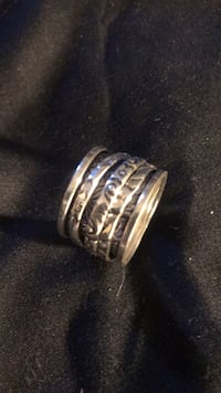 Sterling silver spinner band ring size 7 Virginia Beach, 23451