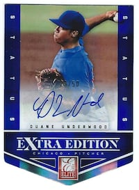 DUANE UNDERWOOD 2012 Elite Blue Die Cut AUTOGRAPH #23/50 CUBS rookie
