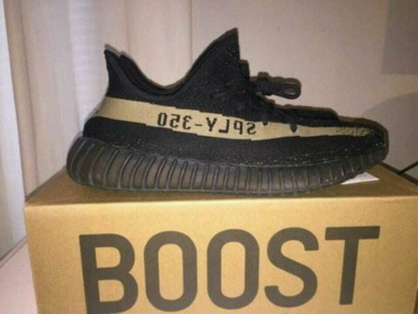 506d7beacd67b Used Adidas Yeezy boost 350 V2 core black  green 12 men for sale in ...