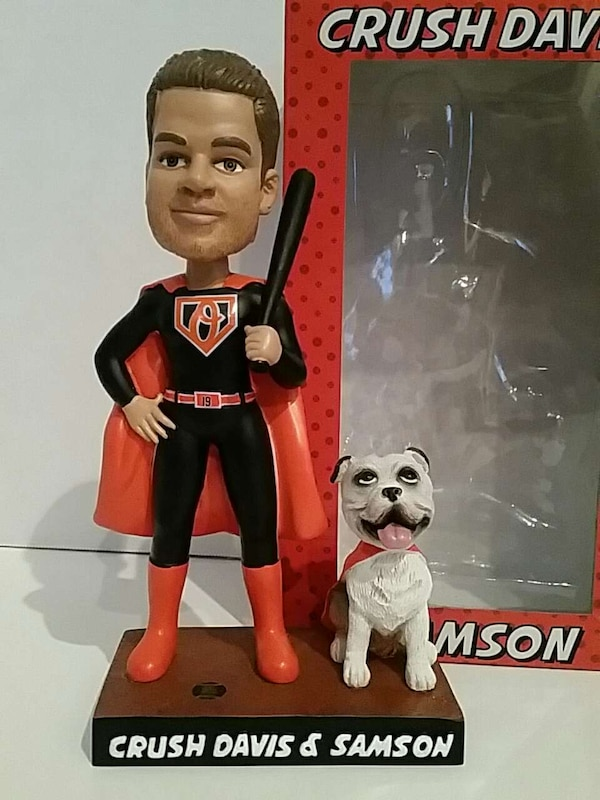 Crush Davis and Samson Bobblehead