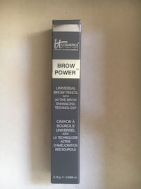 IT Cosmetics Brow Power Eyebrow Pencil   Universal adjusting color shade   New in box. Full size 0.0056 oz. (16 g) twist up pencil with spoolie.Brand new in the box  Buena Park, 90620