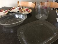 New Large clear Glass serving dishes free delivery.
