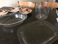 New Large clear Glass serving dishes free delivery. London, N6M