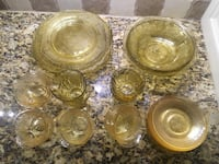 34 Piece Vintage Yellow Depression Glass Set Greenville, 29607