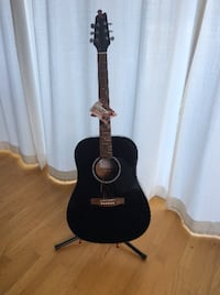 black and brown acoustic guitar VANCOUVER
