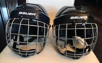 Bauer Certified Skating/Hockey Helmets with cage
