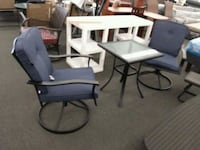 rectangular black wooden table with four chairs dining set Houston, 77092