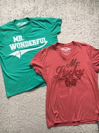 Lucky 7 men's t-shirts $10 for both size XL Laval, H7T 3A7