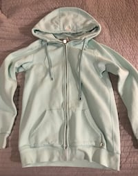 TNA turquoise  zip-up hoodie (large) Coquitlam, V3K 6T8