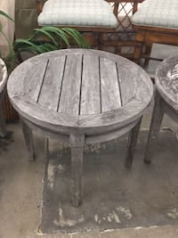 Outside wooden grey round side tables  Bradenton, 34207