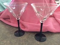 Set of two martini glasses GUELPH