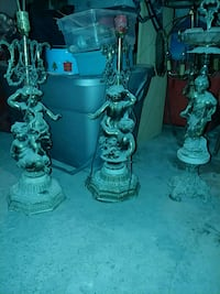 two gray metal candle holders Hamilton, L8L 4J5