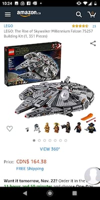 LEGO: The Rise of Skywalker Millennium Falcon 75257 Building Kit (1, 3 Toronto, M8Z 1V1