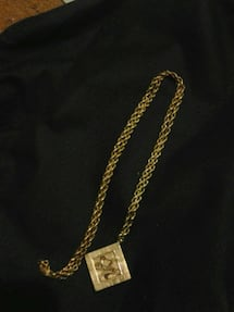 Solid 14k gold mini 31in rolo necklace with 14k