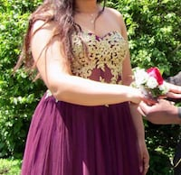 Red and Gold Prom Dress Toronto, M9C