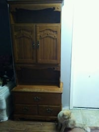 brown wooden cabinet with shelf Abbotsford, V2T 1S7
