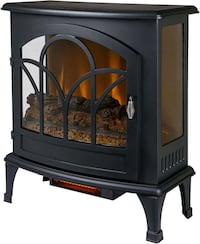 "Muskoka 25"" Curved Front Infrared Panoramic Electric Stove-Black"