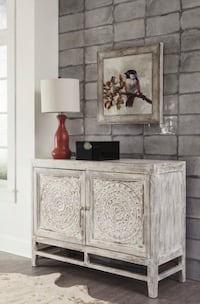 Fossil Ridge Light Brown Accent Cabinet Woodbine, 21797