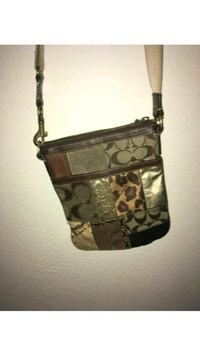 brown and black Coach monogram crossbody bag San Antonio, 78249