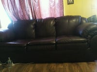 black leather 3-seat sofa Yakima, 98901