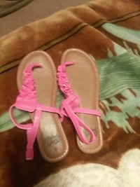 pair of pink leather t-strap sling-back sandals Little Rock, 72209