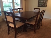 Wood dining table and two piece hutch. Dumfries, 22025