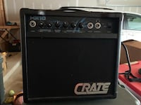 black and gray Crate guitar amplifier 50 km