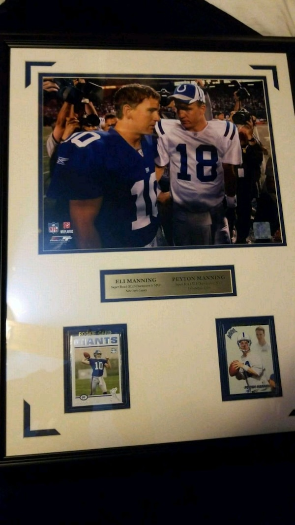 Petyon Manning And Eli Manning Rookie Cards