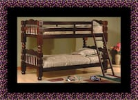 Wooden twin bunkbed frame Fairfax