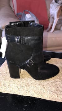 Black leather and suede brand new