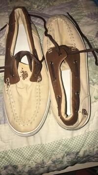 Brown-and-white us polo assn boat shoes Scottsboro, 35768