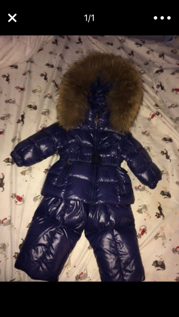 5b72b40c213d Used Moncler baby snow suit original price 600  like new 3-6 months ...