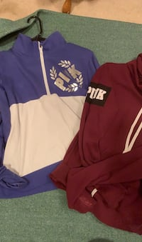 pink pull over and hoodie
