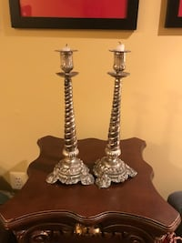 2  large silver candle sticks North Potomac, 20878