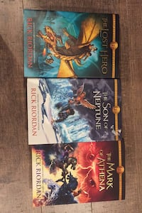 The heroes of Olympus books  1,2 and 3 by Rick riordan